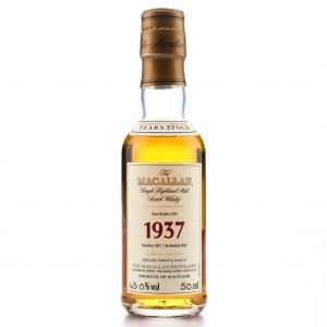 Macallan 1937 Fine and Rare 37 Year Old Miniature