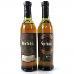Glenfiddich 15 Year Old Solera Reserve & 18 Year Old 2 x 20cl