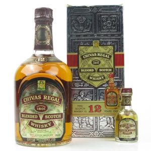 Chivas Regal 12 Year Old 1970s / Including 75 Proof Miniature