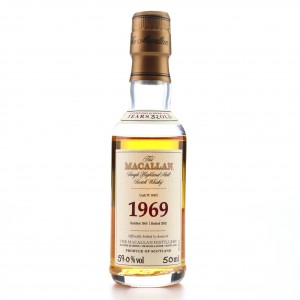 Macallan 1969 Fine and Rare 32 Year Old #10412 Miniature 5cl