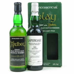 Quintessential Islay / Laphroaig 10 Year Old 50cl & Ardbeg 15 Year Old 50cl / Signed