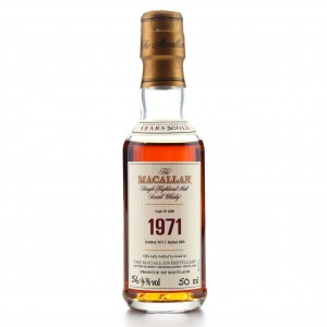 Macallan 1971 Fine and Rare 30 Year Old #4280 Miniature 5cl