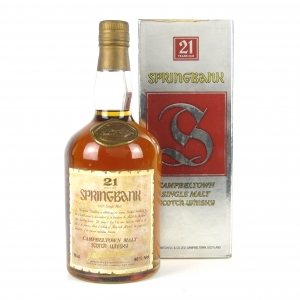 Springbank 21 Year Old 1980s