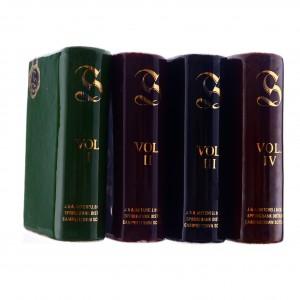 Springbank Ceramic Book Decanters 4 x Miniature