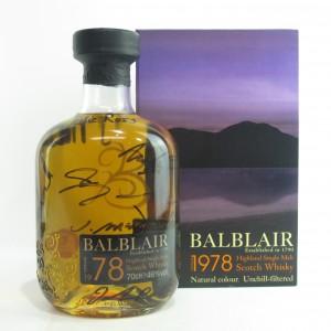 Balblair 1978 / Signed