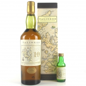 Talisker 10 Year Old Map Label / Including Matching Miniature