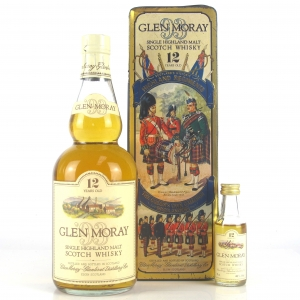 Glen Moray 12 Year Old 1980s / Queens Own Cameron Highlanders / includes Miniature 5cl