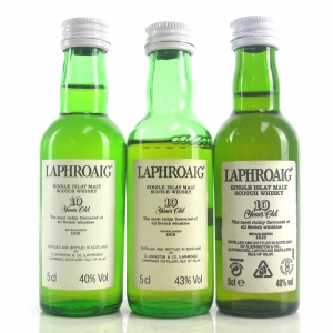 Laphroaig 10 Year Old Miniatures 3 x 5cl