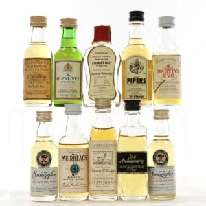 Miscellaneous Scotch Whisky Miniature Selection 10 x 5cl