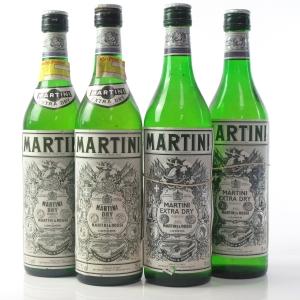 Martini Extra Dry 1980s 4 x 75cl