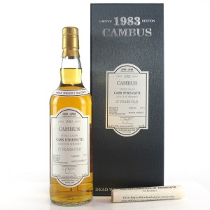 Cambus 1988 Dead Whisky Society 27 Year Old