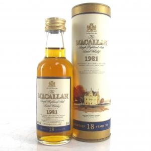 Macallan 18 Year Old 1981 Miniature 5cl