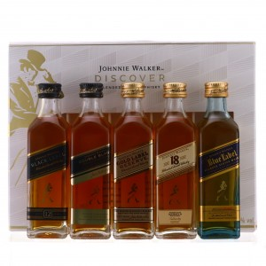 Johnnie Walker Discover Miniatures x 5 / includes Blue Label