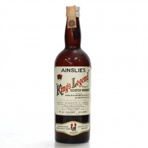 Ainslie's King's Legend Finest Scotch Whisky 1960s / Di Chiano Import