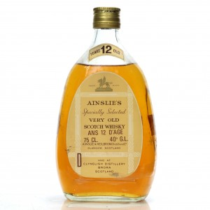 Ainslie's Specially Selected 12 Year Old 1960s / French Import