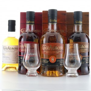 Glenallachie Wood Finishes & Speyside Festival 3 x 70cl 1 x 50cl / Includes two Branded Glasses