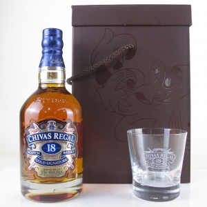 Chivas Regal 18 Year Old Gold Signature Gift Pack / Including Glass