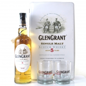 Glen Grant 5 Year Old Gift Pack / Including 2 x Glasses