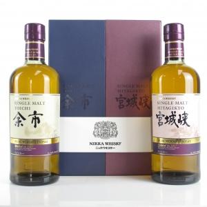 Yoichi and Miyagikyo Rum Wood Finish 2 x 70cl