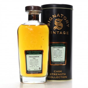 Cragganmore 1985 Signatory Vintage 27 Year Old Cask Strength