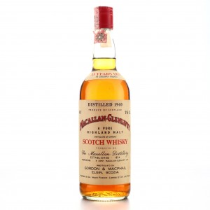 **Macallan 1940 Gordon and MacPhail 33 Year Old / Co. Pinerolo Import