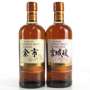 Yoichi and Miyagikyo Moscatel Wood Finish 2 x 70cl
