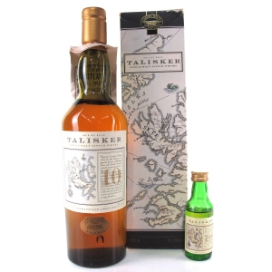 Talisker 10 Year Old Map Label / including Miniature 5cl
