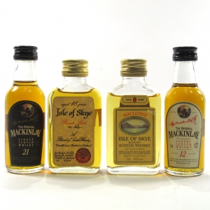 Blended Scotch Whisky Miniatures x 4 / including Isle of Skye 18 Year Old Private Stock #45