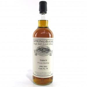 Springbank 1996 Single Cask #78 / Tara'a Private Bottling