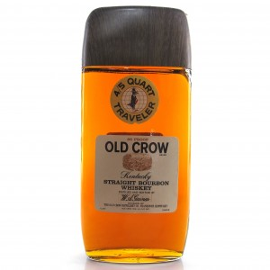 Old Crow Traveller Fifth Kentucky Straight Bourbon 1960s