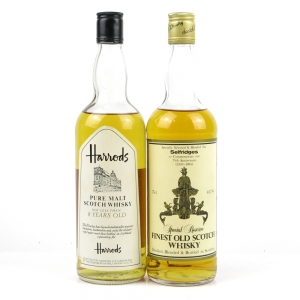 Harrods and Selfridges Scotch Whisky / 2 x 75cl