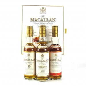 Macallan Gift Set 3 x 33.3cl / includes 10 Year Old Cask Strength