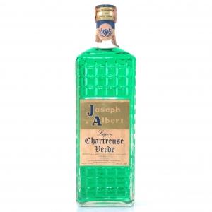 Joseph Albert Liquore Chartreuse Verde 1 Litre 1970s