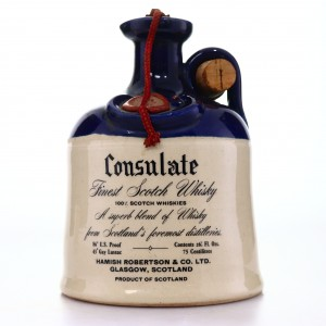 Consulate 21 Year Old Scotch Decanter 1980s