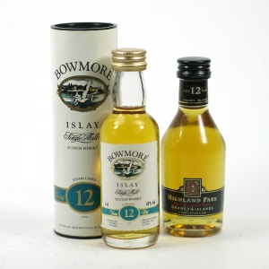 Highland Park 12 Year Old and Bowmore 12 Year Old 2 x 5cl