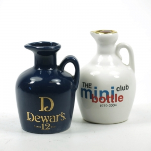 Mini Bottle Club and Dewar's 12 Year Old Decanters 2 x 5cl