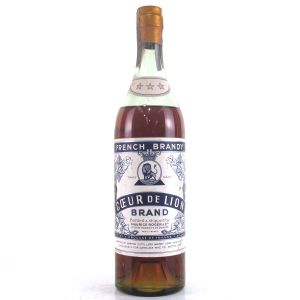 Coeur de Lion 3 Star French Brandy 1960s / US Import