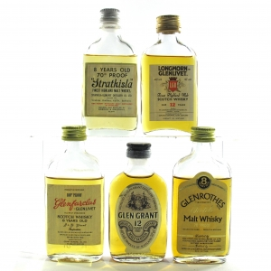 Speyside Miniature Selection 1970/80s 5 x 5cl