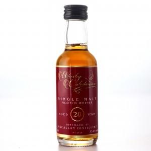 Macallan 28 Year Old Whisky Caledonian Miniature