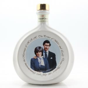 Royal Crest '25' Decanter / Royal Wedding 1981