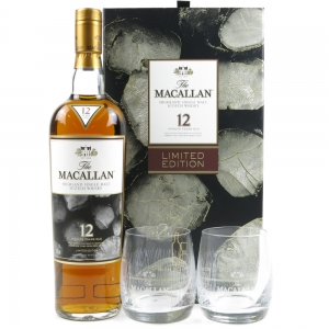 Macallan 12 Year Gift Pack / Including Two Glasses