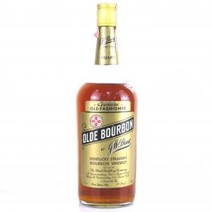 J.W. Dant Olde Bourbon 1 Quart 1970s