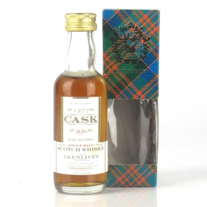 Glenlivet 1977 Gordon and MacPhail Cask Strength Miniture 5cl