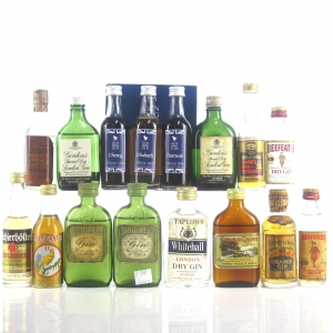 Miscellaneous Gin and Rum Miniatures x 16