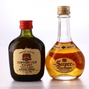 Nikka Super & Suntory Old Miniature x 2