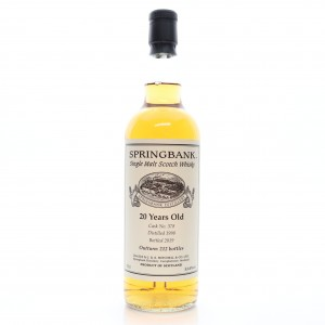 Springbank 1998 Single Cask 20 Year Old #378