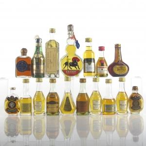 Miscellaneous Brandy Miniature Selection x 17