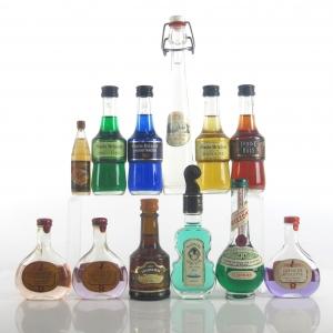Miscellaneous Liqueur Miniatures Selection x 12
