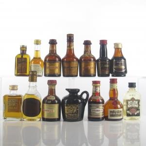Miscellaneous Liqueur Miniatures Selection x 14