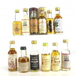 Miscellaneous Highland & Speyside Single Malts 12 x Miniature